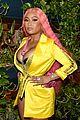 nicki minaj shows off hot pink hair at elle nyfw party 10