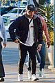 nick jonas arrives to check out dodgers game in los angeles06