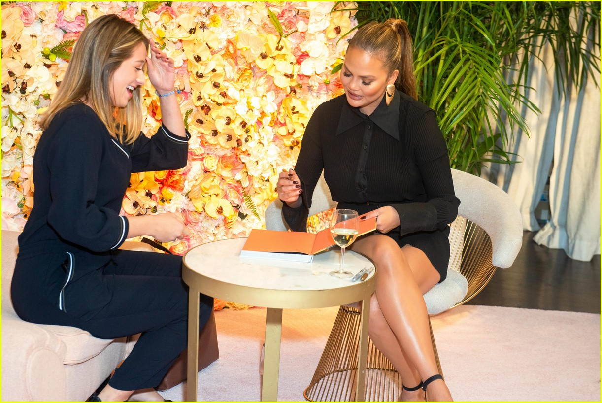 chrissy teigen shows off her revolve collection at nyc pop up13