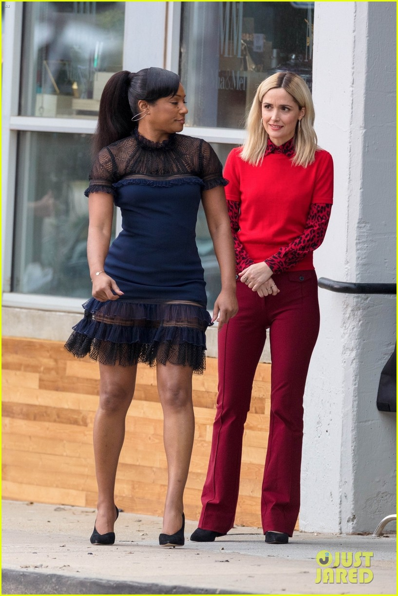 salma hayek tiffany haddish rose byrne start filming limited partners in atlanta 04