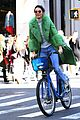 kendall jenner dons furry green coat and long nails while out on her birthday 14