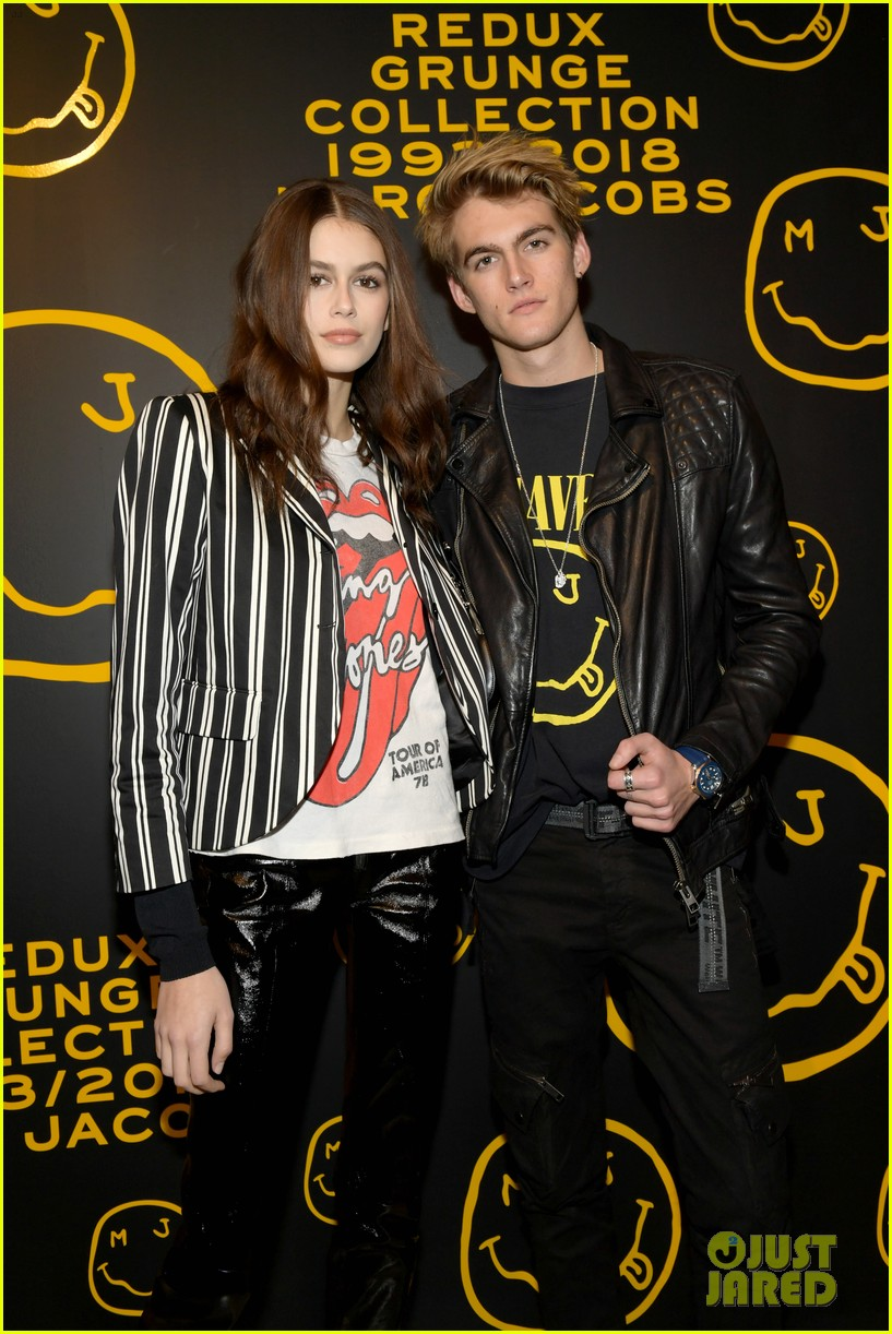 gigi hadid and kaia gerber stun in stripes at marc jacobs madison store opening 15