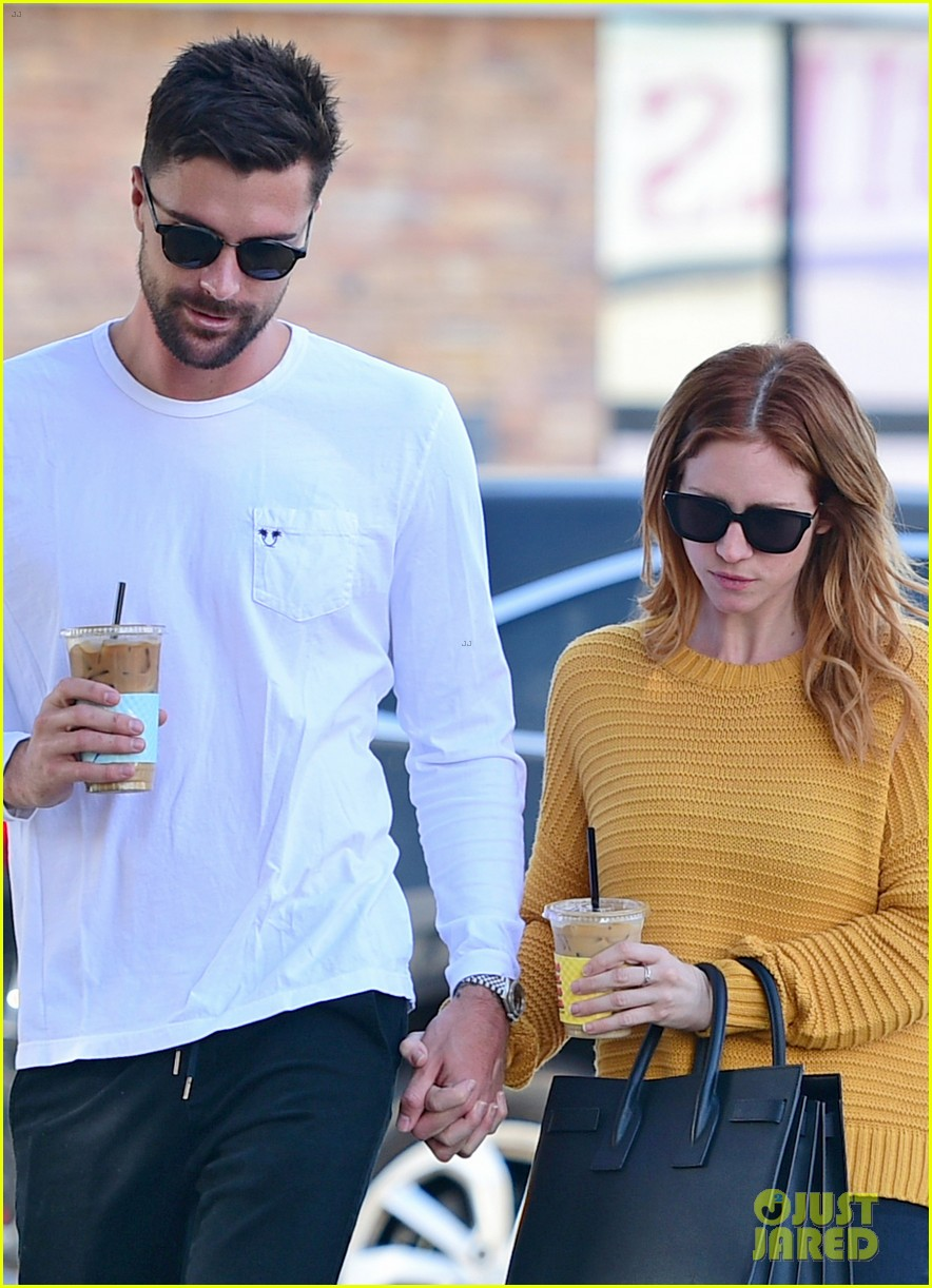 brittany snow boyfriend tyler stanaland step out for coffee 02