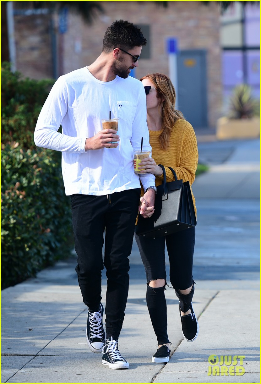 brittany snow boyfriend tyler stanaland step out for coffee 09