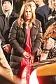 jennifer aniston red gown top of the morning apple show set 37