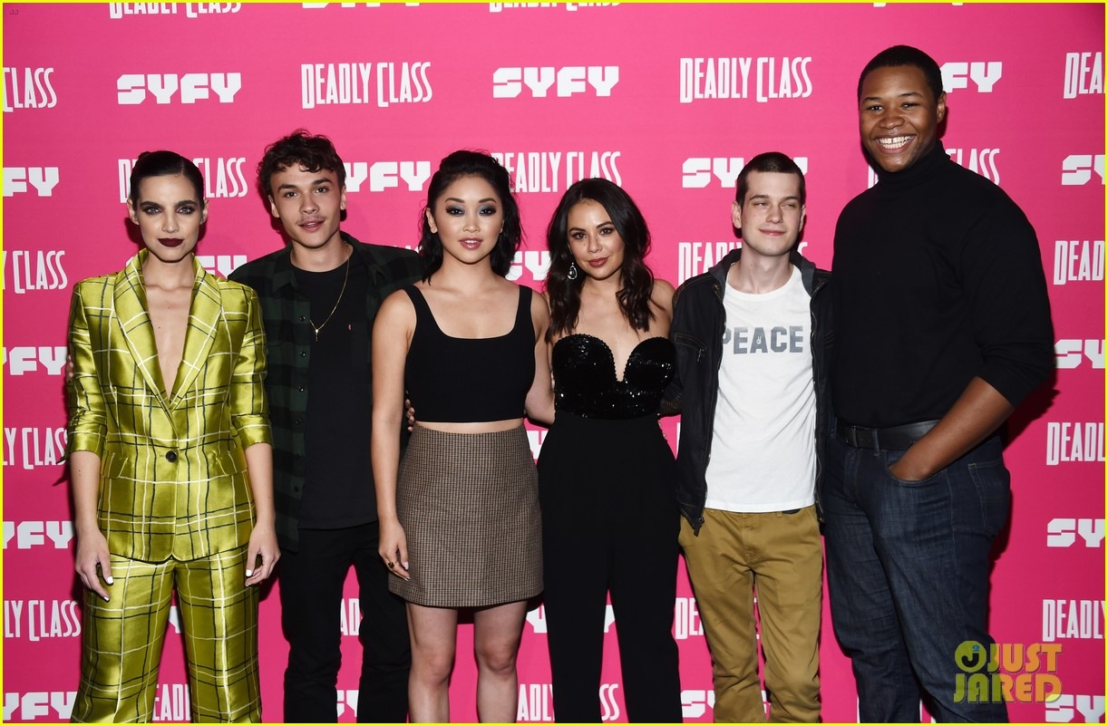 janel parrish supports lana condor at deadly class premiere 24