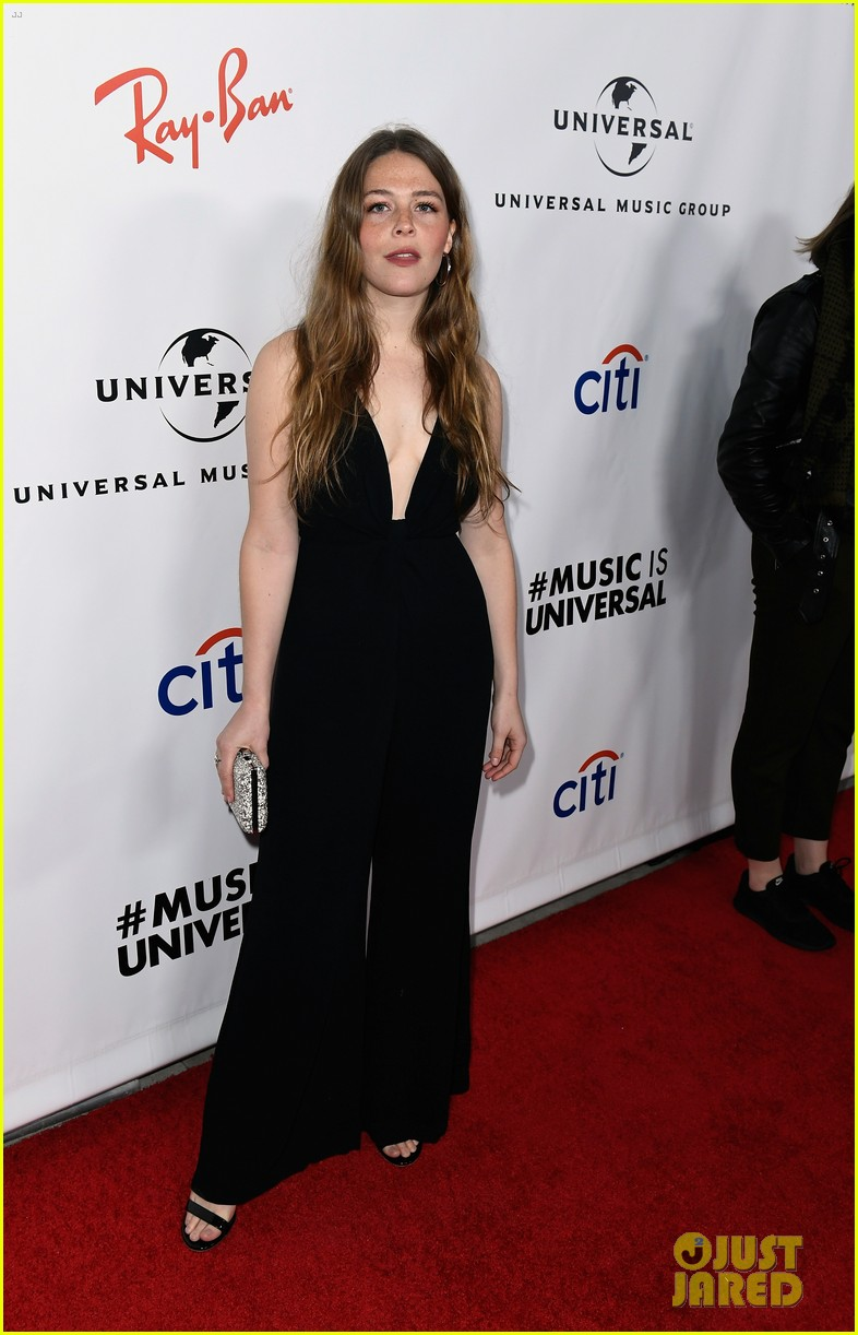 sabrina carpenter glows in yellow at universal music groups grammys 2019 after party 05
