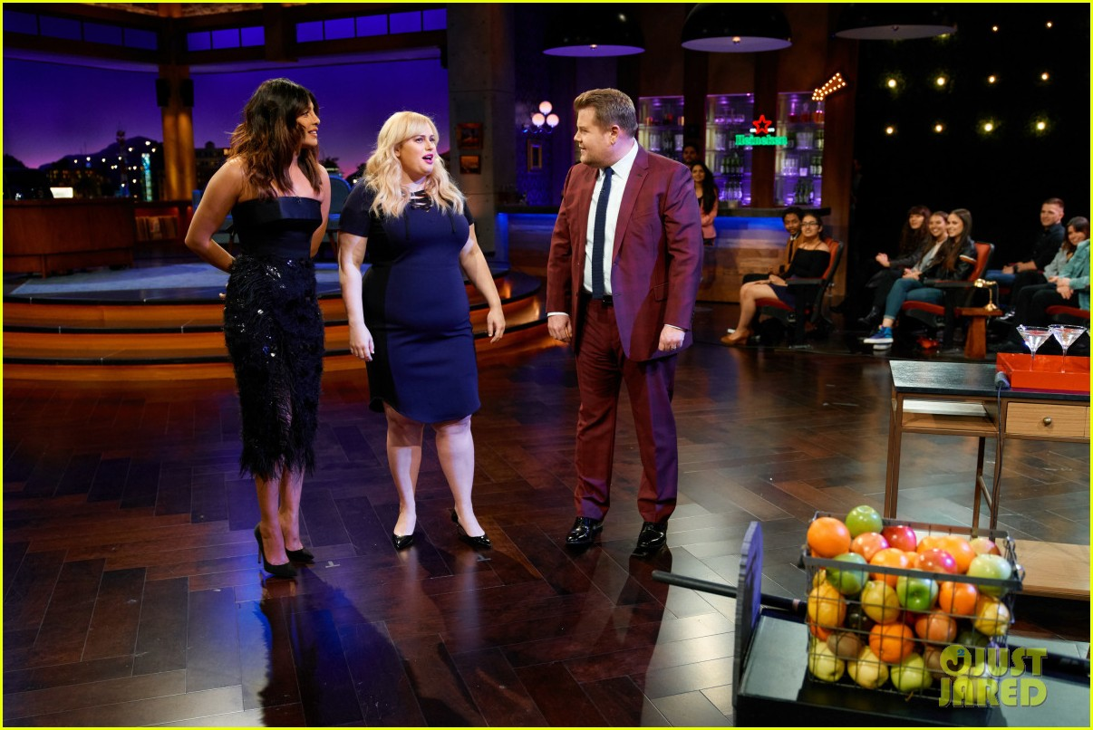 priyanka chopra rebel wilson test their nerves in late late shows flinch game 05