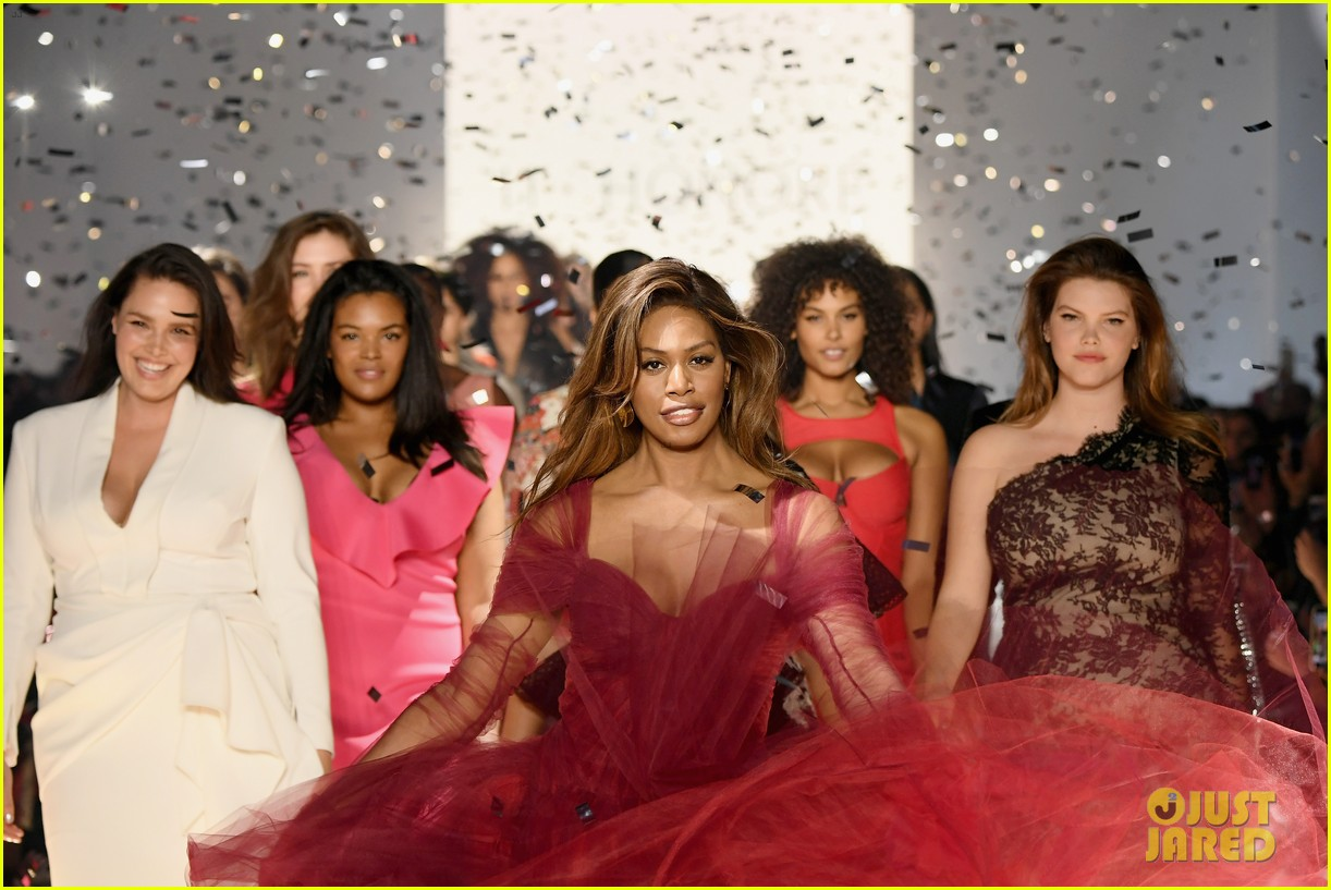 laverne cox wows the runway closing 11 honore nyfw show 05