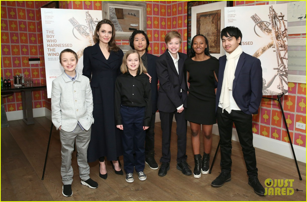 angelina jolie hosts screening with all six children 02