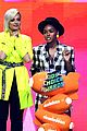 bebe rexha sports neon outfit for kcas 07