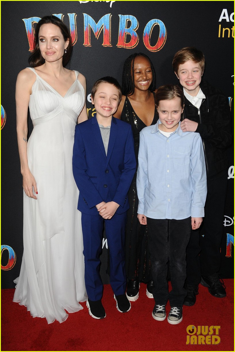 angelina jolie dumbo premiere with kids 06