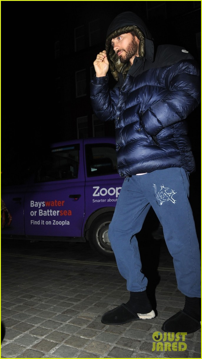 jared leto dons furry slippers while out and about in london 05