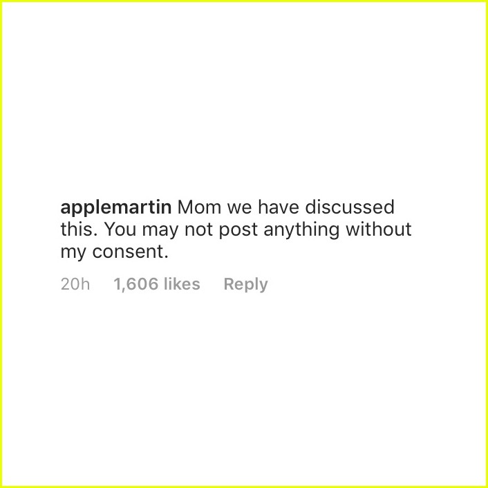 gwyneth paltrow apple martin comment exchange 01