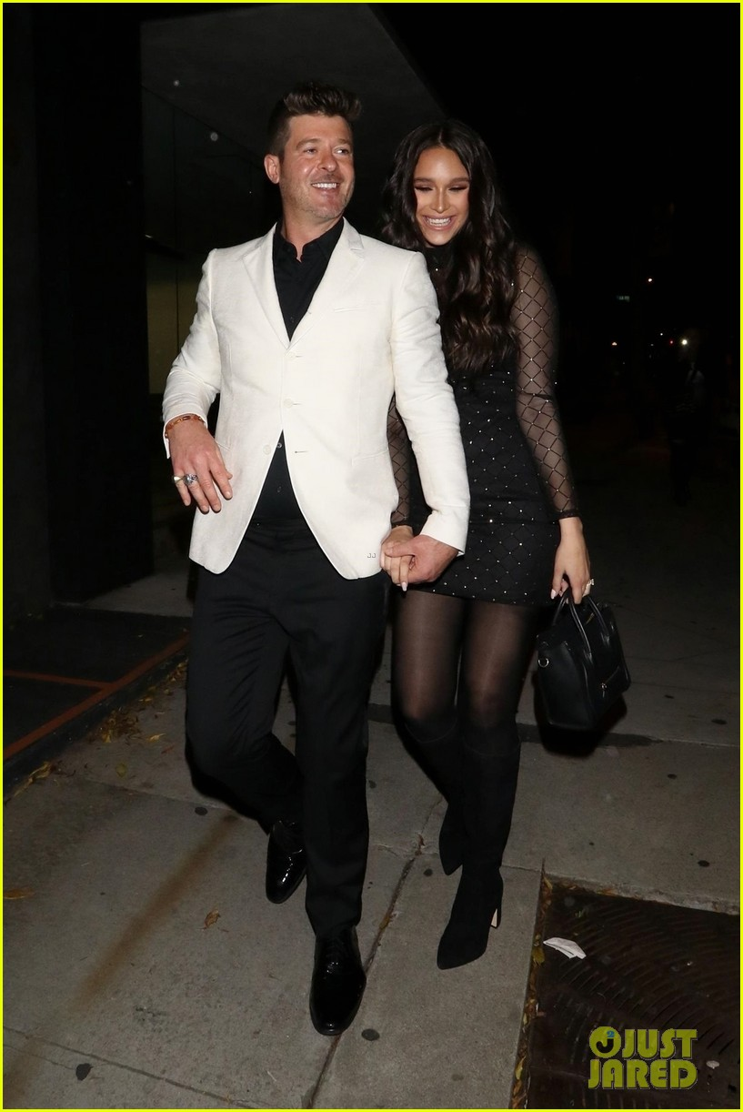 robin thicke april love geary couple up for night out 03