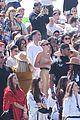 hailey bieber joins kardashian jenners at kanye wests sunday service at coachella 05