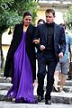 matt damon wife luciana step out in style for dinner in italy 03