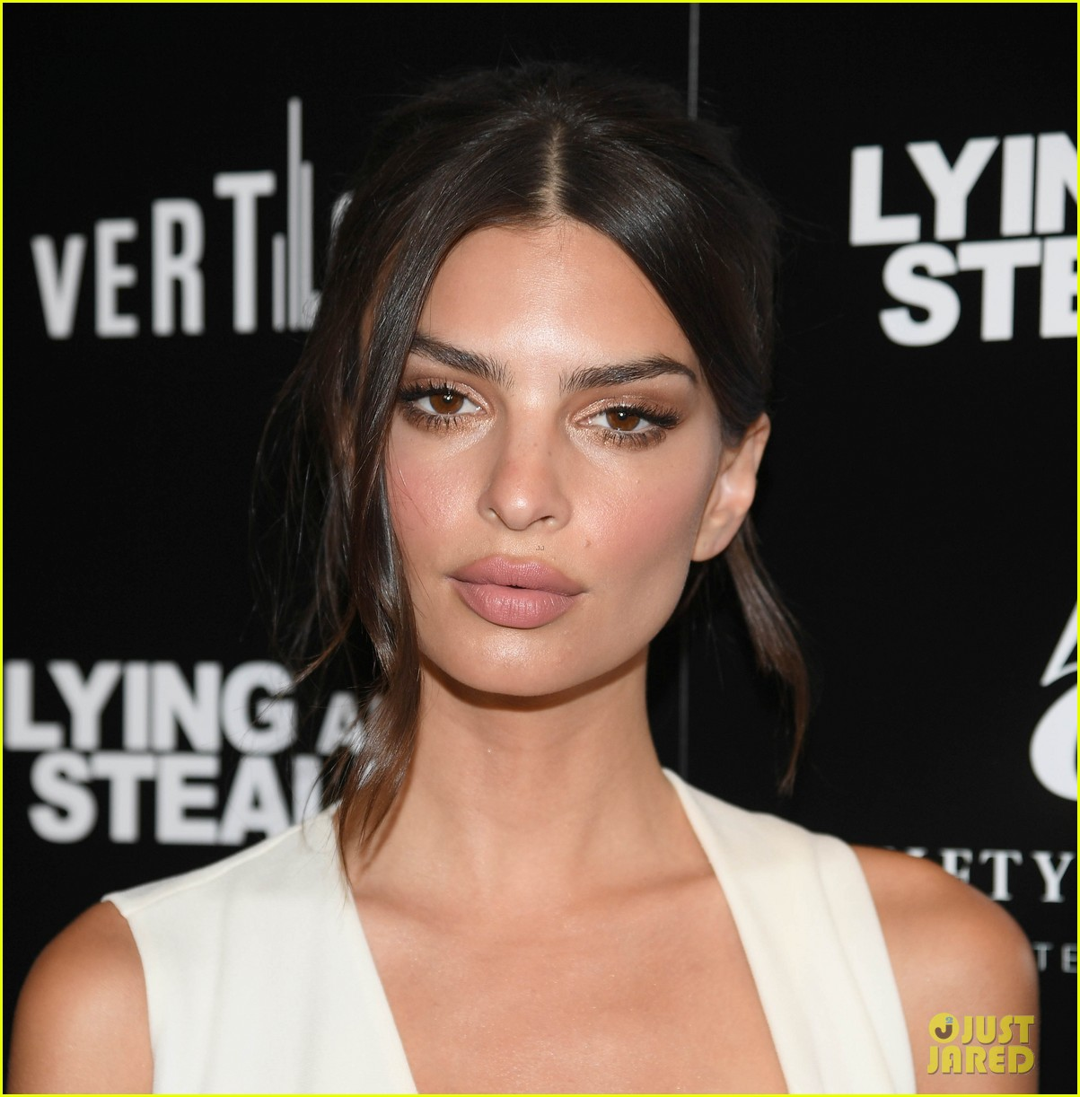 emily ratajkowski wows in white dress at lying and stealing screening in nyc 01