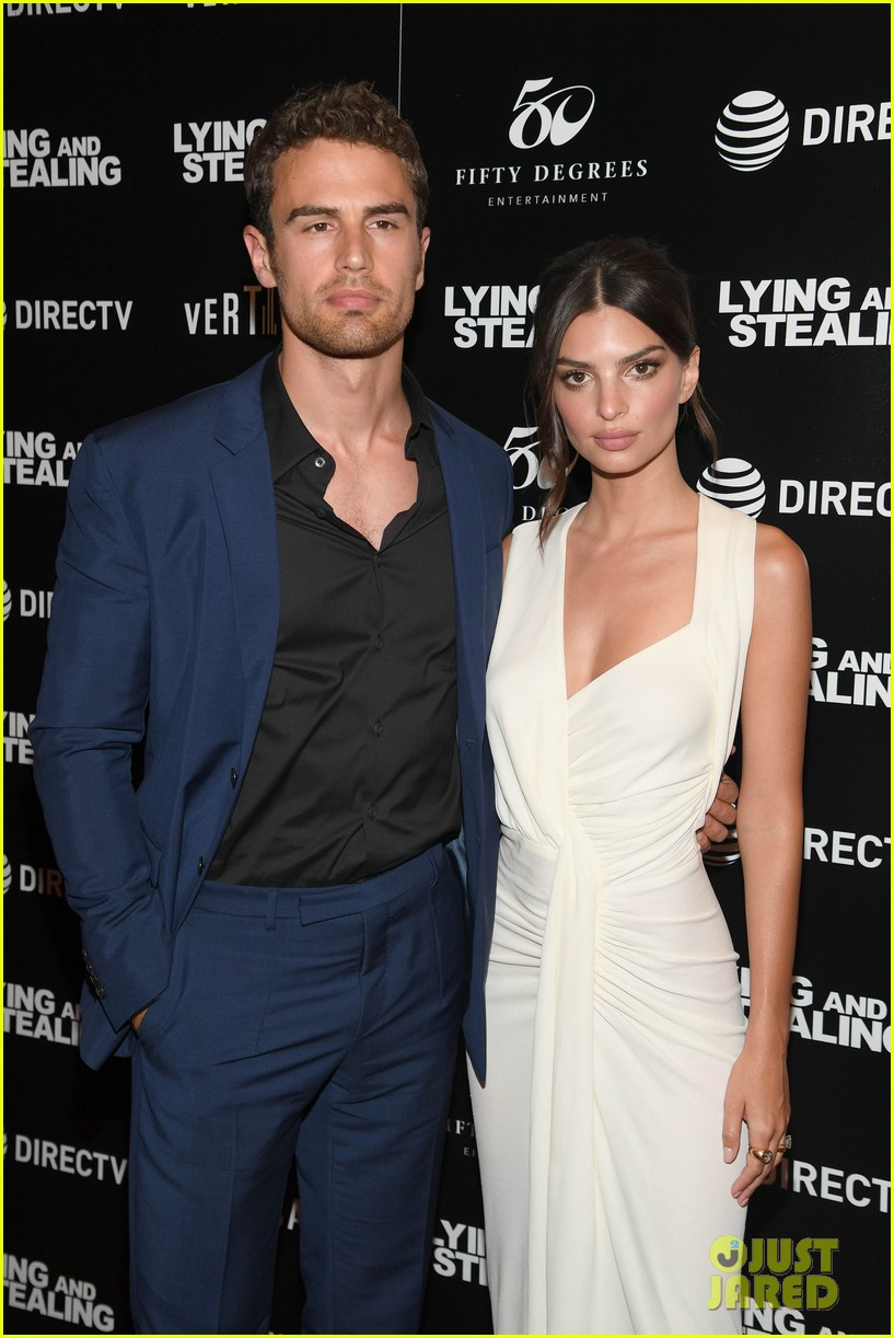 emily ratajkowski wows in white dress at lying and stealing screening in nyc 08