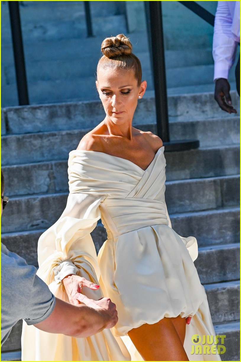 celine dion is show stopping at alexandre vauthier paris fashion show 014317489