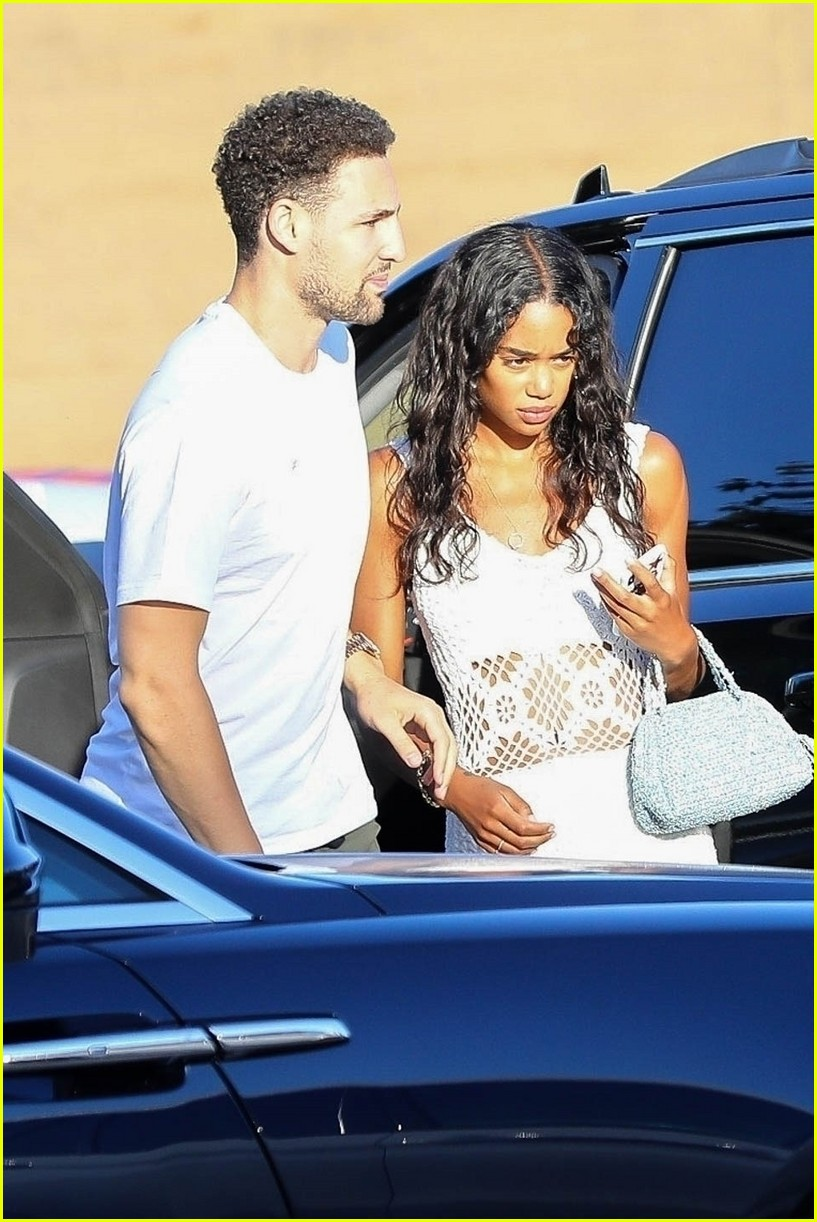 Klay Thompson with ex-girlfriend Laura Harrier