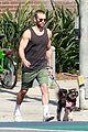 chace crawford puts his bulging biceps on full display while dog walking 05