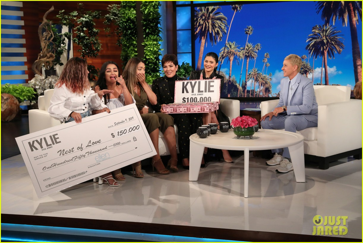 kylie jenner says her sisters tease her about being a billionaire on ellen 08