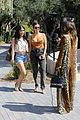 kourtney kardashian pairs plunging top with acid wash jeans lunch la 03