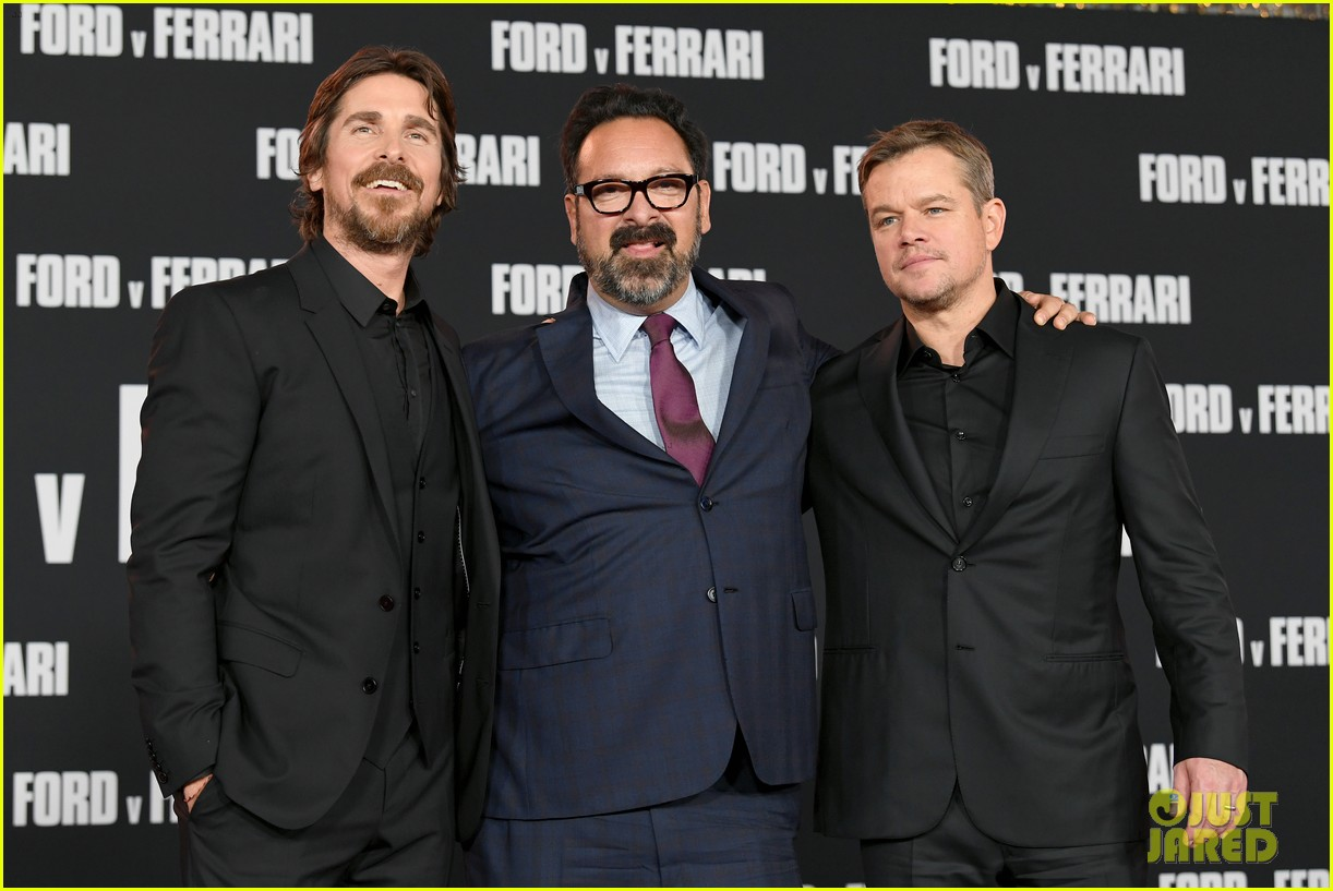 christian bale matt damon suit up ford v ferrari premiere 34