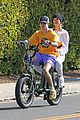 justin hailey bieber go for bike ride before hitting up dance studio 02