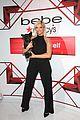 bebe rexha black halter jumpsuit bebe event with dog bear 06