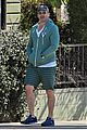 jon hamm green jacket shorts lunch los feliz 01