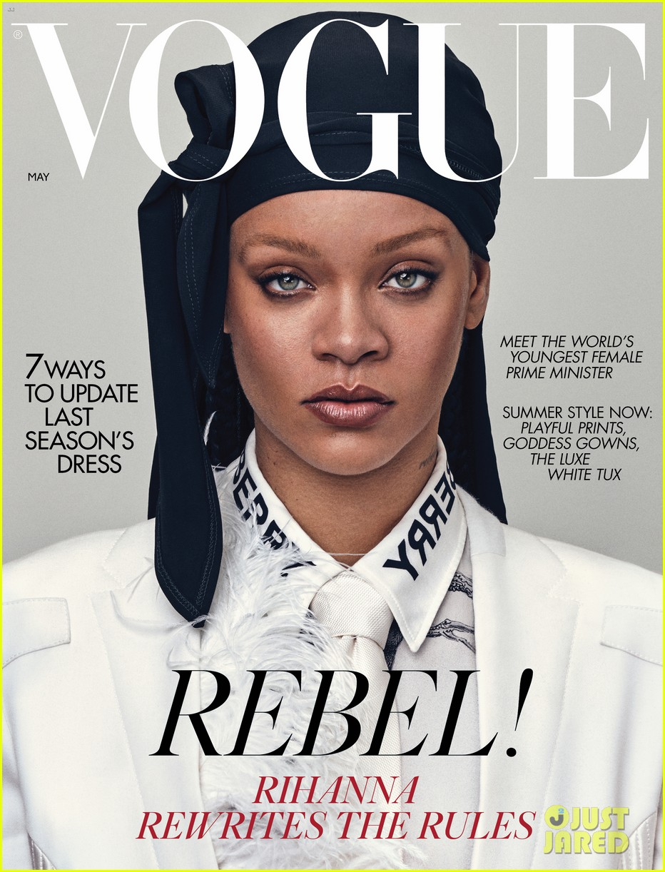 rihanna tells british vogue shes very aggressively working on music 01
