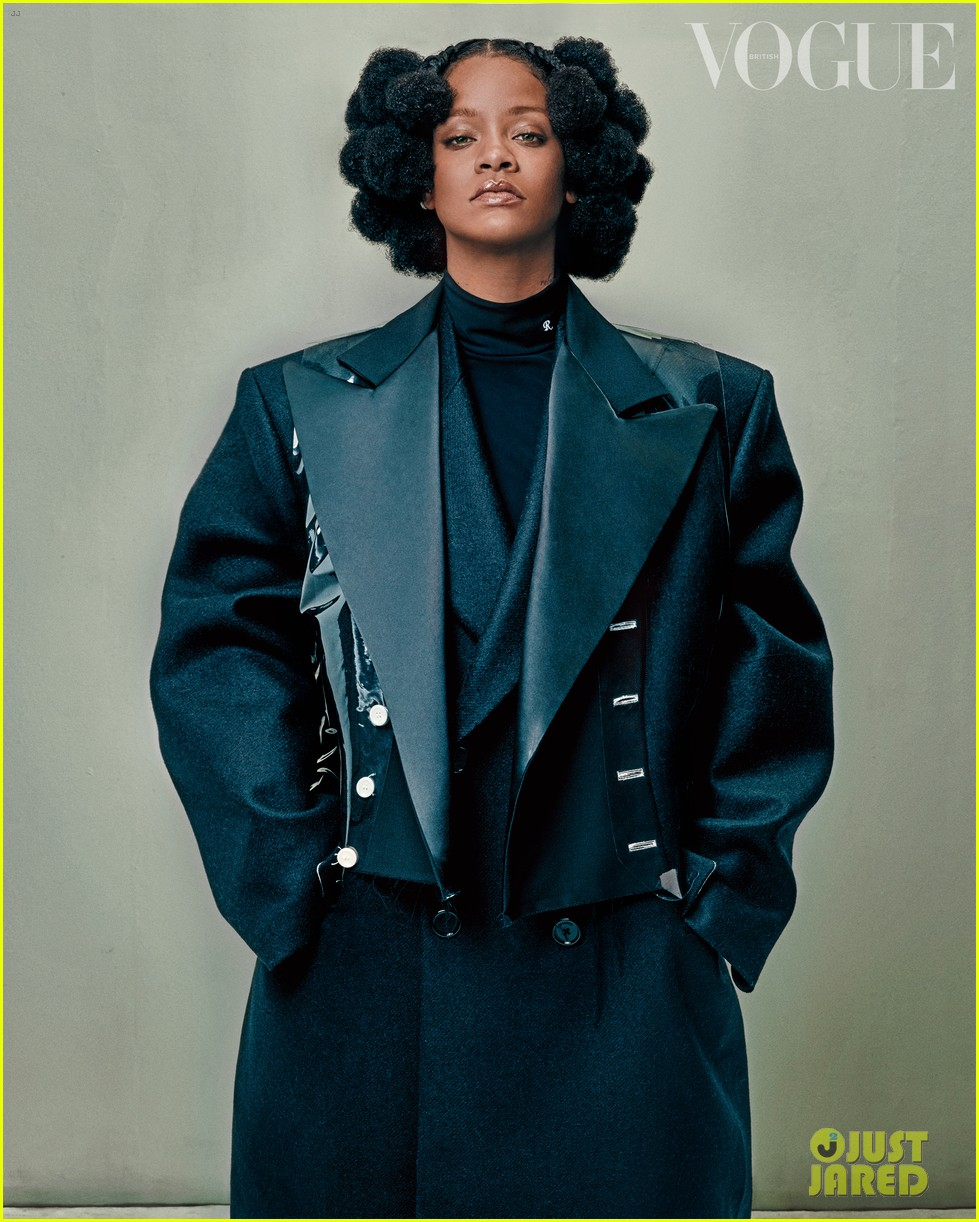rihanna tells british vogue shes very aggressively working on music 02