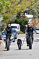 robin wright clement giraudet bike ride with dog 20