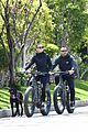 robin wright clement giraudet bike ride with dog 24