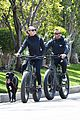 robin wright clement giraudet bike ride with dog 32