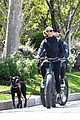 robin wright clement giraudet bike ride with dog 40