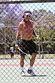 gavin rossdale goes shirtless playing tennis 24