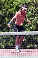 gavin rossdale goes shirtless playing tennis 45