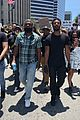 michael b jordan marches in black lives matter protest in beverly hills 01