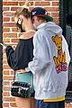 justin bieber hailey bieber cute pda out for breakfast 24