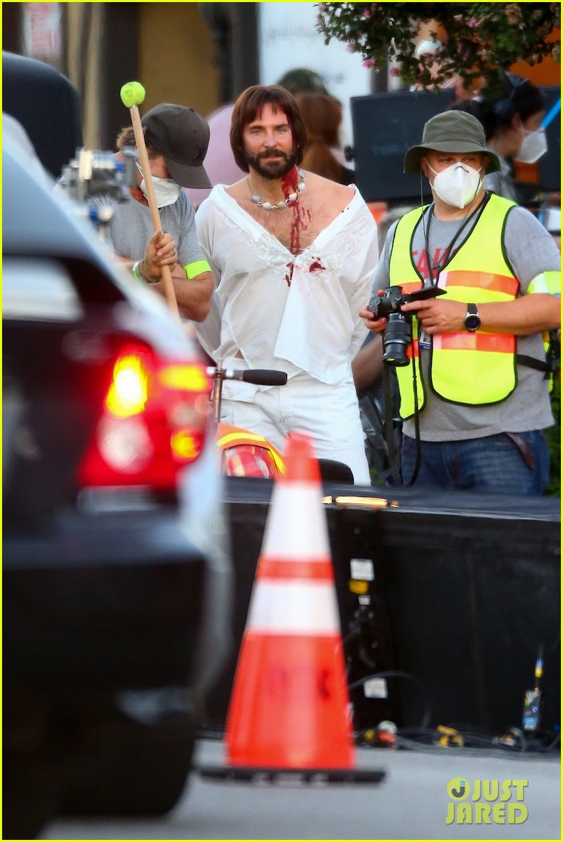 bradley cooper bloody on set photos 17