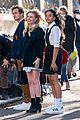 Photo 6 of 'Gossip Girl' Stars Spotted in Their School Uniforms for Latest Scene (Photos)