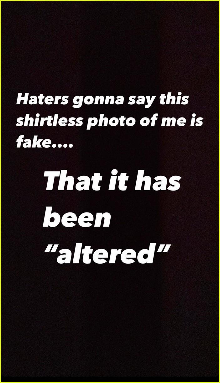 chris pratt shares shirtless selfie with filter 01