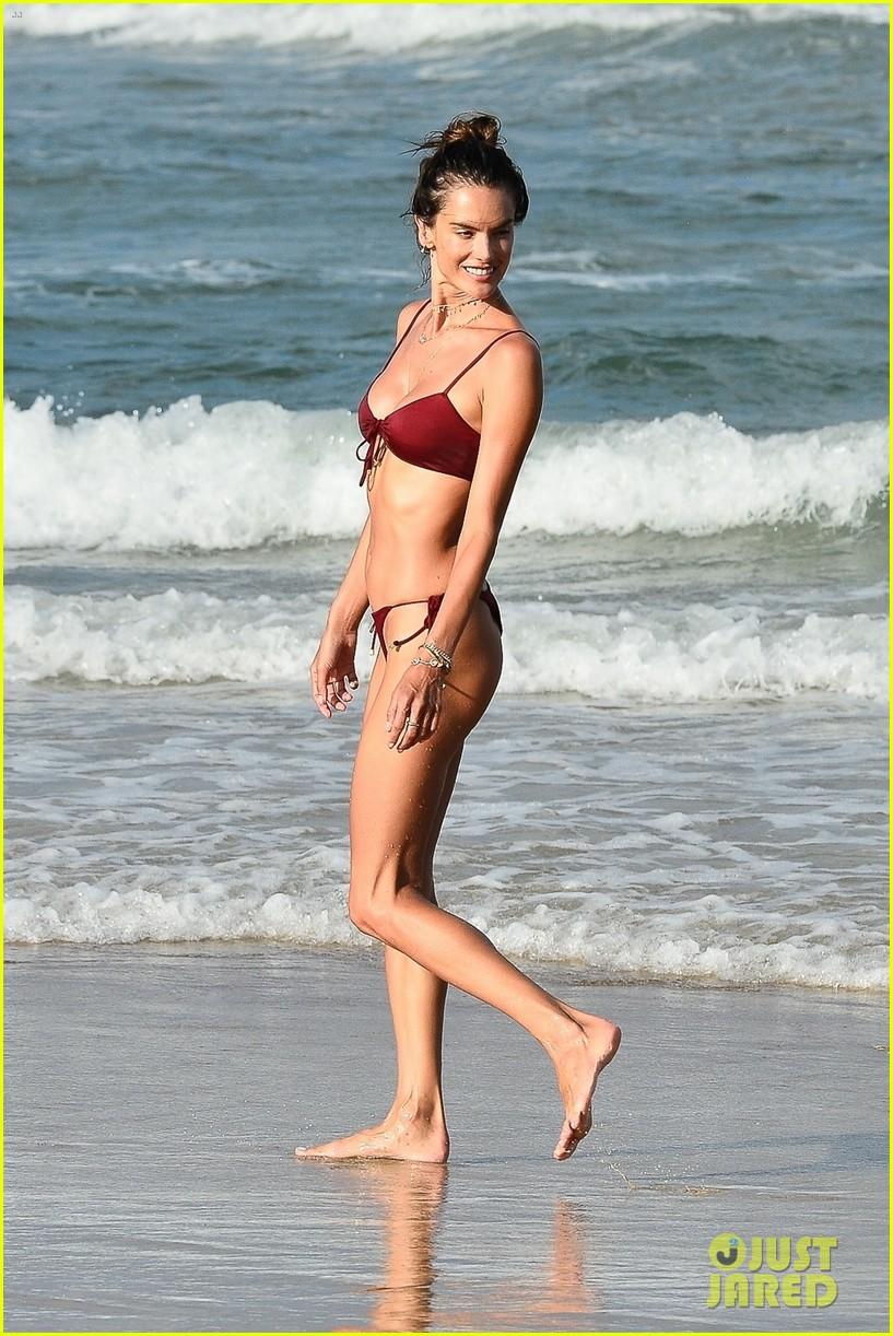 alessandara ambrosio enjoys workout on beach brazil 01