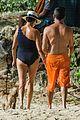 simon cowell orange shorts beach day barbados 02