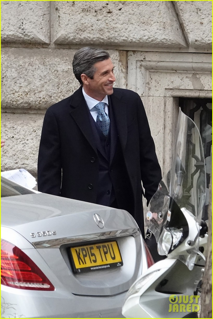 patrick dempsey suits up filming devils season two 01