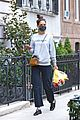 katie holmes picks up flowers during a casual solo outing 01