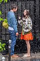 lily collins caught in rain with lucas bravo emily in paris 17
